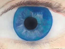 Auge in Mixed-Media-Technik. Tom 13 Jahre
