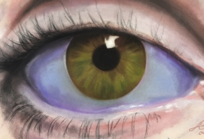 Auge, Mixed-Media-Technik, Alexandra 18 Jahre